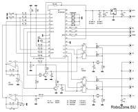 Схема блока контроллера шагового двигателя.